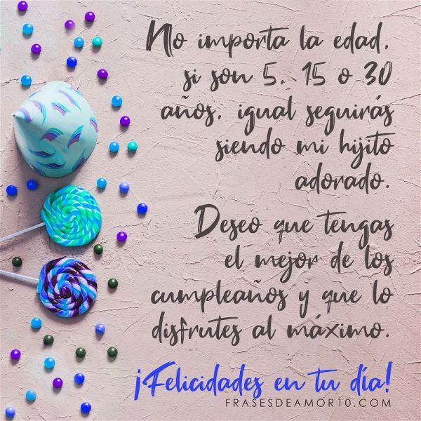 Felicitaciones de cumpleaños para un hijo