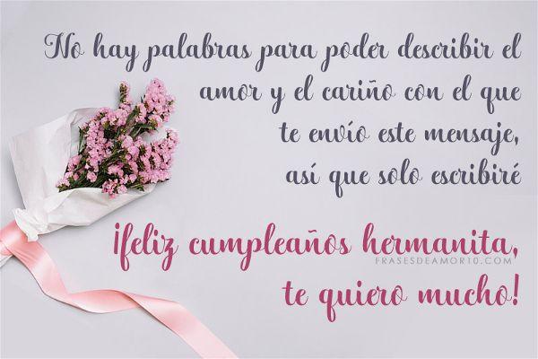 Feliz cumpleaños para una hermana