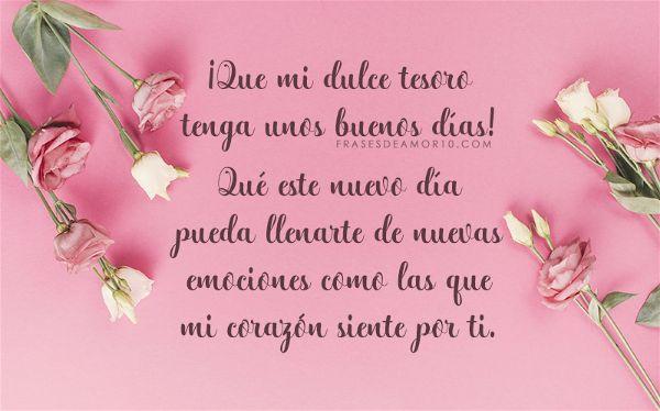 Las Mejores Frases De Buenos Díaspara Tu Amor