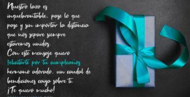 Mensajes de cumpleaños para un hermano