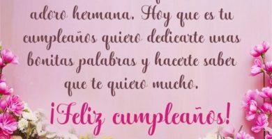 Mensajes de cumpleaños para una hermana