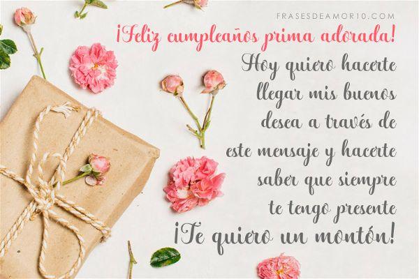 Frases De Cumpleaños Para Una Prima Con Imágenes
